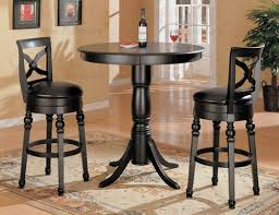 Bar Stool And Table Sets Coaster Lathrop Black Round Bar Table Set