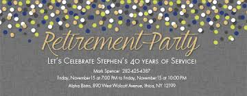 retirement invitations retirement farewell free online invitations