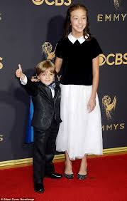 modern family s jeremy maguire beams in blue cape at emmys daily