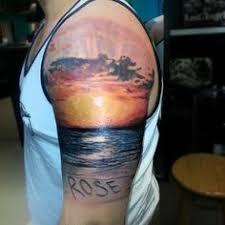 sunset tattoo done by j p decker kissimmee florida sunset
