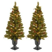 creative decoration pre lit entryway trees 5