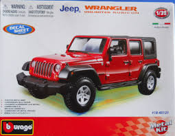 jeep model kit burago 1845121 1 32 jeep wrangler unlimited rubicon kit look