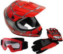 motocross helmets spiderweb motocross helmet red youth dot birdy s scooters atv s
