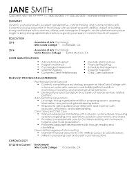 Resume Examples For College by Professional Psychology Student Templates To Showcase Your Talent