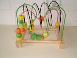 wooden bead toy table ikea mula bead roller coaster wooden table top toy metal guides