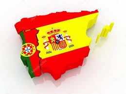 Spain Portugal Map by Map Of Spain And Portugal U2014 Stock Photo Tatiana53 26894305