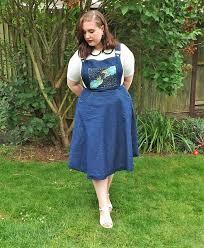 dungaree dress pinafore dress denim dress circle skirt