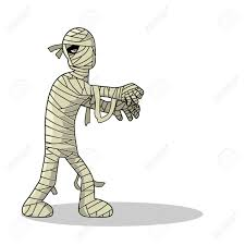 standing mummy halloween monster cartoon royalty free cliparts