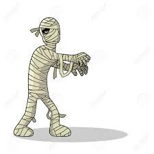 standing mummy halloween monster cartoon royalty free cliparts