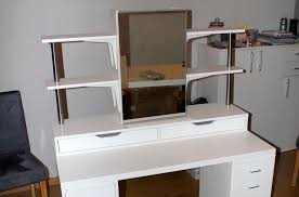 makeup vanity table with lighted mirror ikea an affordable ikea dressing table makeup vanity ikea hackers