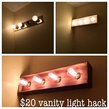 bathroom vanity light bulbs bathroom vanity light diy makeover i built a thin wood box to