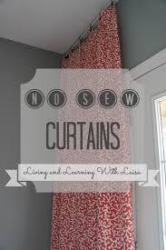 Easy No Sew Curtains No Sew Curtains U2013