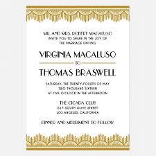 art deco wedding invitation gold black