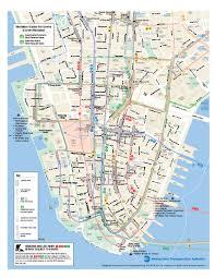 downtown manhattan map lower manhattan transportation map york city mappery