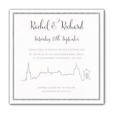 wedding invitations edinburgh edinburgh skyline wedding invitations luxury wedding invitations