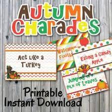 autumn charades charades charades and thanksgiving