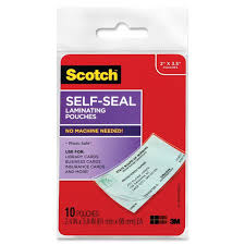 amazon com scotch self sealing laminating pouches business card