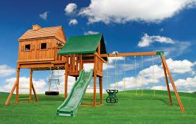 fantasy tree house backyard swing set eastern jungle gym