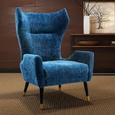Navy Blue Velvet Accent Chair by Tov Furniture Tov A156 Logan Navy Velvet Accent Chair On Gold