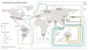 trading pattern shipping mapped the global coal trade carbon brief
