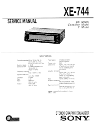 sony xe 744 service manual immediate download