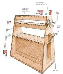 Wood Clamp Storage Rack Plans by Efficient Glue Ups With A Rolling Clamp Rack Finewoodworking