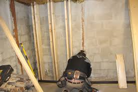 concrete repair how to support a block wall