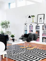 ikea stockholm area rug black white stripe