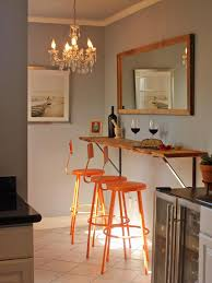 Kitchen Breakfast Bars Designs Kitchen Island Wooden Wall Mount Breakfast Bar Orange Bar Stools