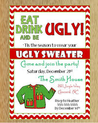 sweater invitations happy holidays