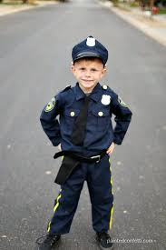 Boys Police Officer Halloween Costume Happy Halloween 2016 Painted Confetti