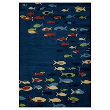 Fish Area Rugs Fish Woven Area Rug Art Carpet Target