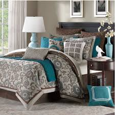 California King Size Bed Comforter Sets Bedroom Cal King Bedding With Brown Wooden Floor And Standing
