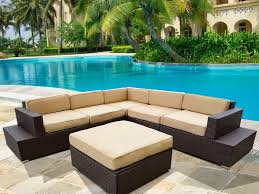 Round Sectional Patio Furniture - patio 9 furniture photos diy outdoor dining set designs