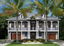 narrow waterfront house plans waterfront house plans home plans