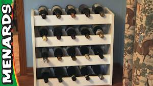 how to build a wine rack in a cabinet wine rack how to build menards youtube