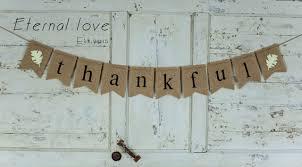 thanksgiving burlap banner thanksgiving decor thanksgiving banner thankful burlap banner