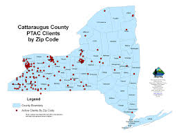 Map Of Zip Codes by About The Ptac Cattaraugus County