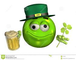 beer emoji leprechaun emoticon with beer with clipping path royalty free