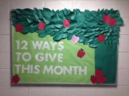 resident assistant the giving tree themed bulletin board