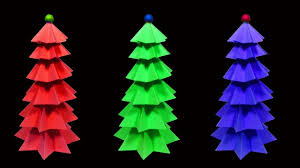 how to make a beautiful and colorful paper christmas tree