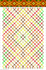 bracelet friendship patterns images Friendship bracelet pattern 24 strings 6 colors diamonds gif