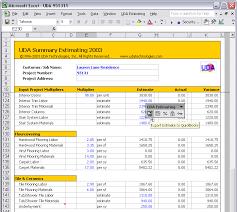 Estimating Flooring Costs by Uda Construction Office 2003 Estimating Screenshots