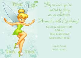Birthday Invitation Card Maker Tinkerbell Birthday Party Invitations Cimvitation