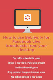 Tv Host Resume How To Get Started Live Streaming To Facebook Using Belive Tv