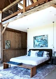pennsylvania modern barn house conversion cococozy rustic architecture master bedroom platform bed