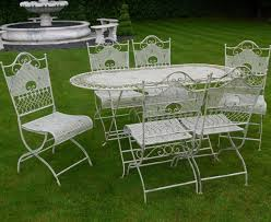 jayden shabby chic white wrought iron metal garden furniture patio