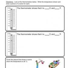 thermometer worksheets have fun teaching