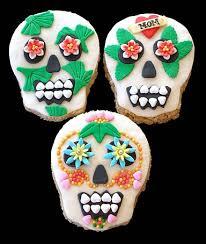sugar skull molds rice krispies treats skulls craftybaking formerly