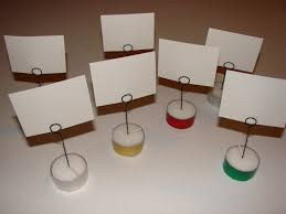 Table Card Holders by Diy Place Card Holders From Tealights Party Time Pinterest